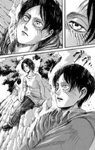 Eren wakes up in the forest