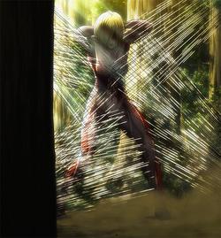 A trapped Female Titan