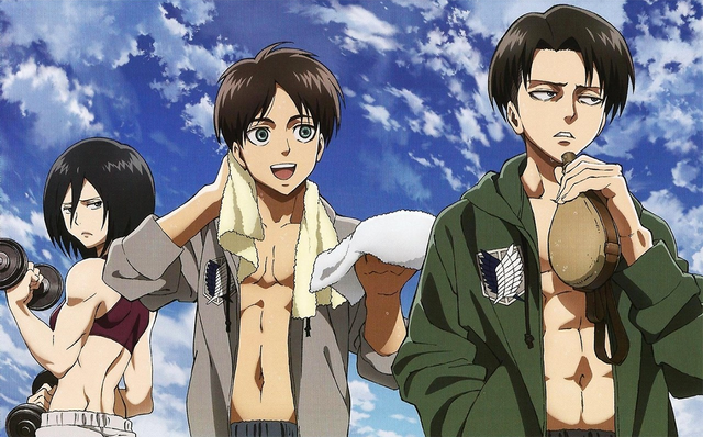 File:Mikasa, Eren and Levi.png
