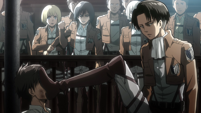 File:Levi beats up Eren.png