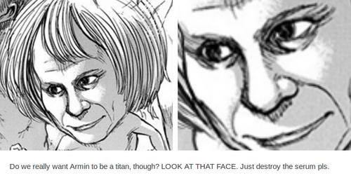 Armin Titan pervert eyes