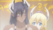 Leohart and Liala in bath (Testament of Sister New Devil Burst 06)