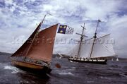 48-9647 Classic sloop and tall ship schooner off the coast of Falmouth UK
