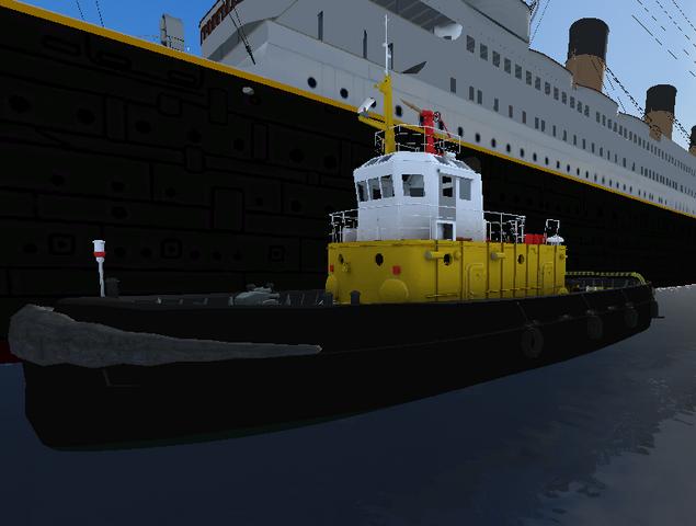 File:Rusian tug tows the titanic.png
