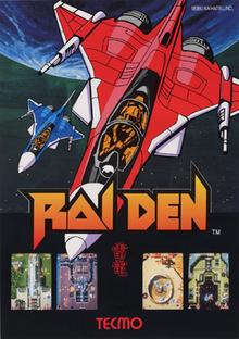Raiden arcadeflyer