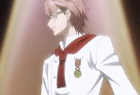 Shinomiya wins the medal (anime)