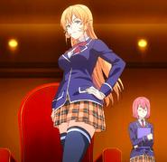 Erina watches Ikumi (anime)