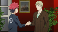 Sōma and Abel shake hands