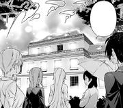Megumi leads the Nakiri group to the dorm