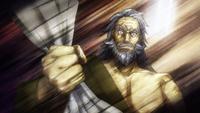 Senzaemon Nakiri strips from Sōma's dish (anime)