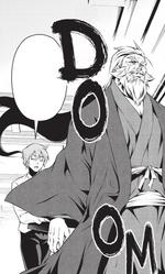 Senzaemon walking through Nakiri mansion