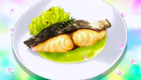 Spanish Mackarel with Chinese Pepper and Puree (anime)