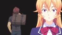 Erina passes by Jōichirō (anime)