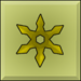 Item icon golden throwing stars