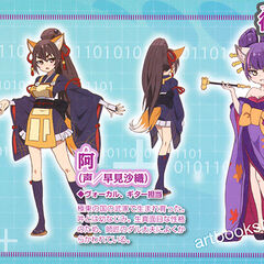 Anime character designs from Otomedia Magazine