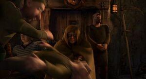 Shrek2 gnomes fight in bar