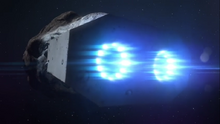 Sidonia activated her propulsion system