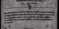 Work Release Program Application