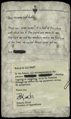 Child's Letter Home