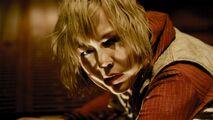 Heather on the floor of Brookhaven Asylum