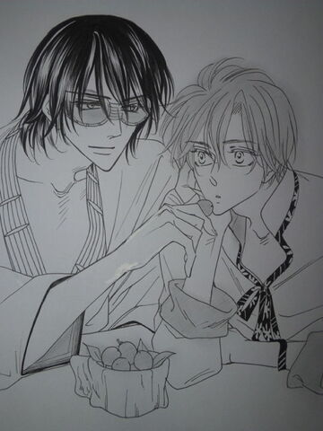 File:Chigusa and Rakan during Snack time.jpeg