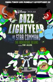 336px-Simba Timon and Pumbaa's adventures of Buzz Lightyear of Star Command The Adventure Begins Poster