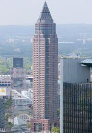 Frankfurt Am Main-Messeturm-Ansicht vom Maintower