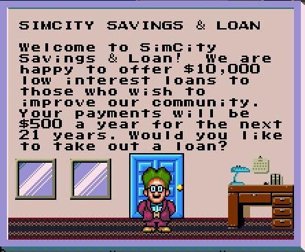 File:SimCity SNES Loan Unlocked.png