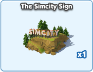The Simcity Sign