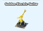 Golden electric guitar