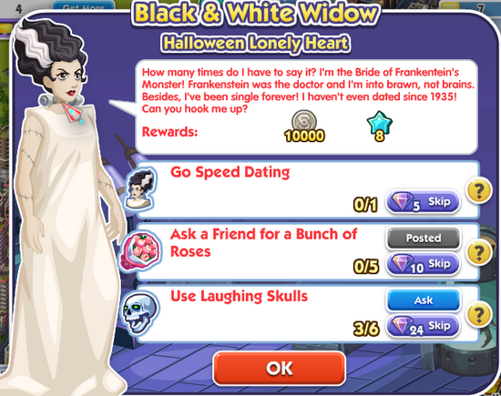 1black and white widow