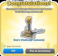 Don's Challenge Memorial Dialog