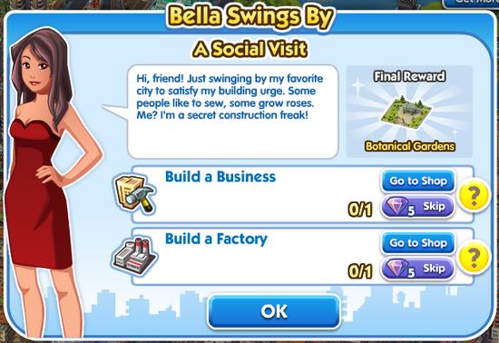 Quest bella Bella-swings-by A-social-visit