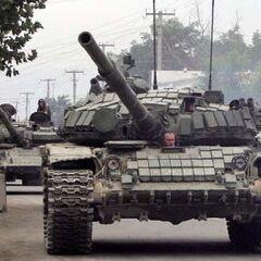 Norte T-97 Tanks roll into Calzador.