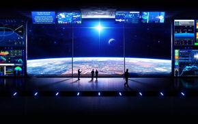 Brandenburg Helggen Spaceport Observation and Intelligence Deck Window