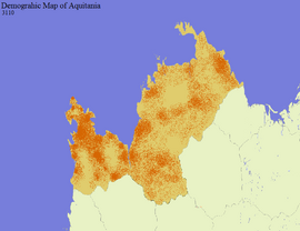 Aquitanian Demographic Map