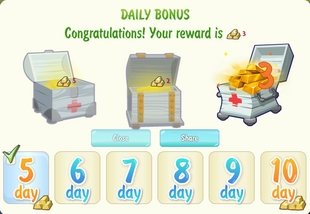 Sh gold reward daily