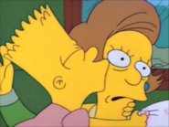 Bart kisses the teacher