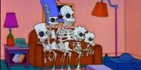 Skeleton Family couch gag