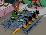 Apu and Octuplet Boys at Father-Son Barbeque