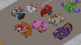 Wacky Races Couch Gag