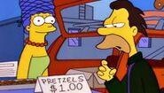 Marge selling Pretzels