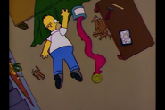 Homer and red paint