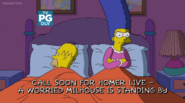 Marge is still mad Bart
