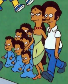 File:Apu's Family dress as the Simpsons.PNG