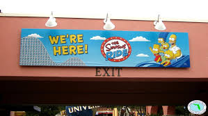 File:The Simpsons Ride Sign on Universal Studios Exit.jpg