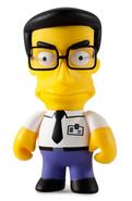 The Simpsons Frank Grimes Grimey Vinyl Toy