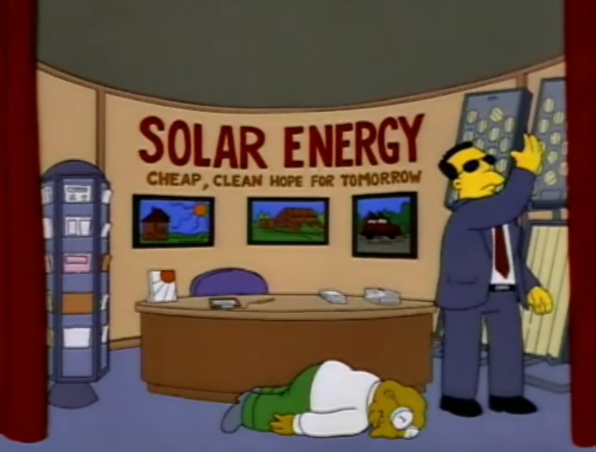 Solar energy simpsons wiki fandom powered by wikia for Solar energy for kids