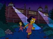 Bart and Gina Escaping Juvie