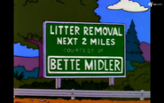 Litter Removal sign